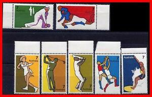 AUSTRALIA-1974-SPORTS-SC-590-96-MNH-RUGBY-GOLF-CRICKET-TENNIS-SURFING-E15