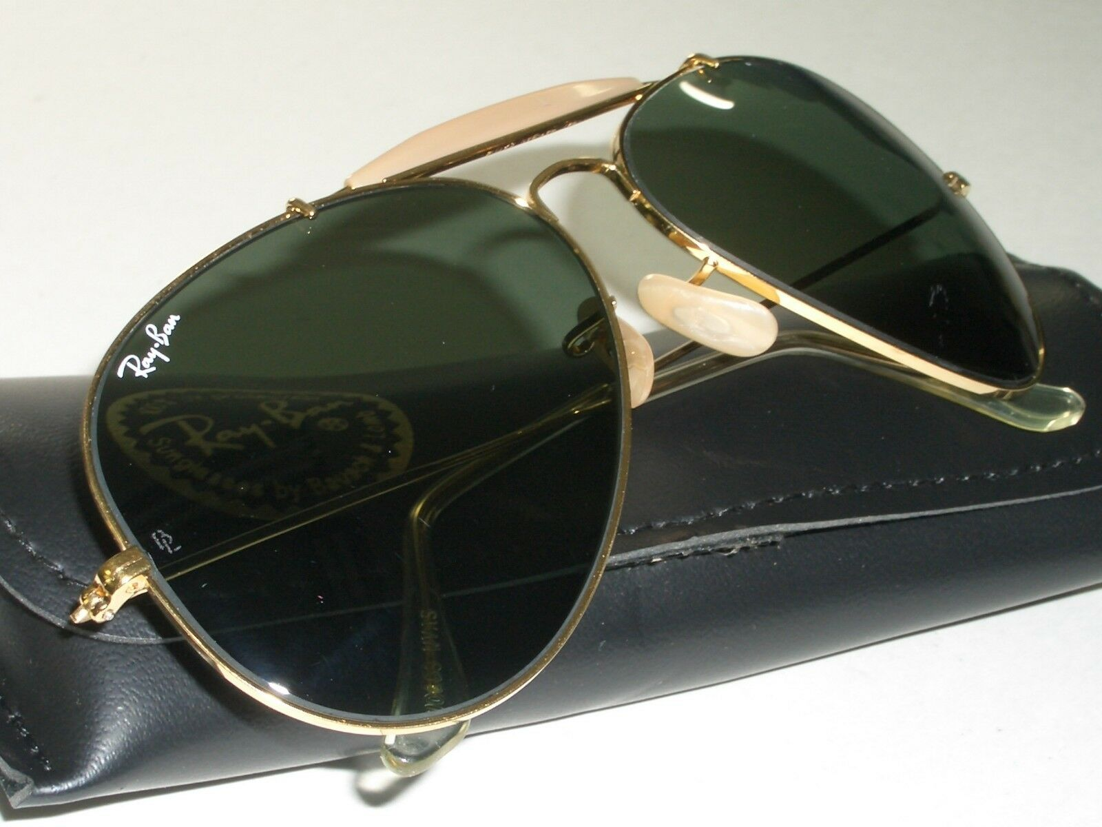 69a1a9e102ce 62 14mm Vintage Bausch   Lomb Ray Ban GP G15 Outdoorsman II Aviator ...
