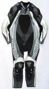 DAINESE Nitro Gr. 52 Einteiler Lederkombi 1-teilige Racingkombi schwarz weiß