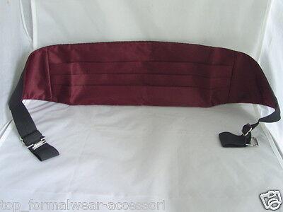 RED Polyester Mens Cummerbund-More Cummerbunds U Buy/>More £ U Save/>in 60 Colours
