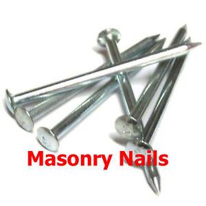 MASONRY NAILS ZINC METRIC 25, 30, 40, 50, 60, 70, 80, 90, 100mm Masonry Nail