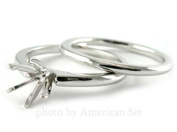 Palladium Ring Setting Semi Mount Wedding Set Engagement Women