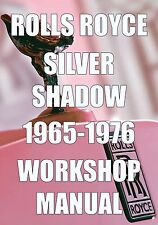 ROLLS ROYCE SILVER SHADOW WORKSHOP MANUAL 1965-1976