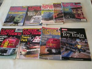 Lot-of-8-ISSUES-OF-CLASSIC-TOY-TRAINS-MAGAZINE-Years-1998-1999