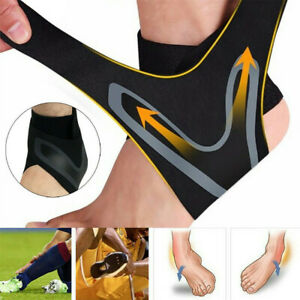 ADJUSTABLE-ANKLE-SLEEVE-Elastic-Ankle-Brace-Guard-Foot-Support-Sport-AU
