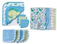 Gerber Baby Boy Green/blue Dinosaur Bundle Bath Set Baby Clothes Shower Gift