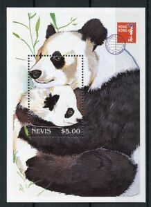 Nevis-1997-neuf-sans-charniere-giant-pandas-Hong-Kong-039-97-1-V-S-S-Animaux-sauvages-Panda-timbres
