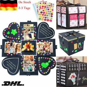 DIY Jubiläum Geburtstagsgeschenk Überraschung Explosion Box Fotoalbum Scrapbook