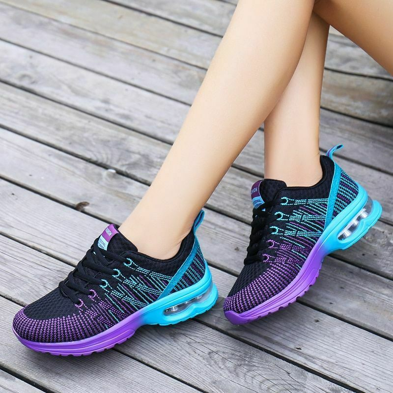 Women Running shoes Sport Breathable Lace-up Height Increasing Fashion Sneakers