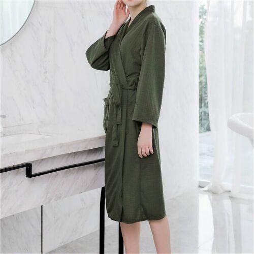 Femme Peignoir De Nuit Robe longue dressing Spa Robe Serviettes éponges Nightwear Soft NEUF