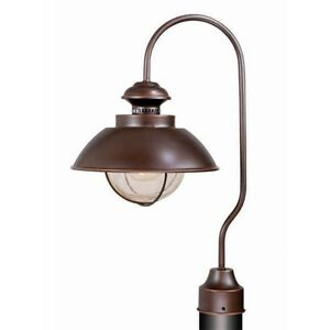Image Is Loading NEW 1 Light Nautical Outdoor Post Lamp Lighting