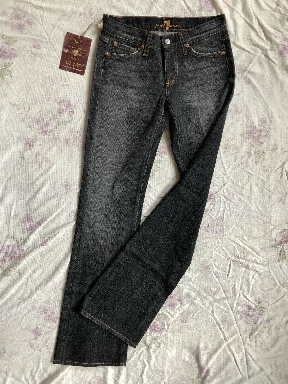 7 SEVEN for all MANKIND Jeans Stretch W26 L32 low waist slim fit Stiefelcut leg