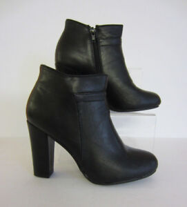 Spot-On-F5R949-Ladies-Ankle-Boots-Black-UK-Sizes-3-x-8-R6A