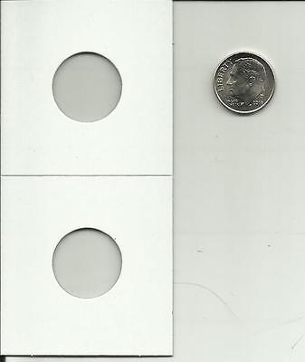 Dime 20mm 2x2 Cardboard Mylar Coin Holder Flip-US 1/&10 cent 200 X Penny Cent
