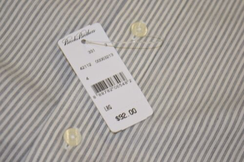 Brooks Brothers Non-Iron Button Down Gray Stripe Long Sleeve Regent Fit Shirt