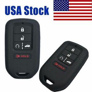 Details about 2X Rubber Key Fob Cover Keyless Case for 2018 2017 Honda  Accord Civic Pilot CR-V