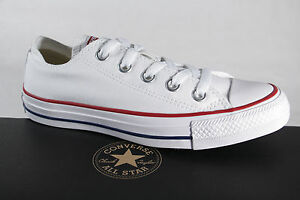 Converse-All-Star-Chaussures-a-lacets-Baskets-blanc-Textile-Lin-M7652C-Neuf