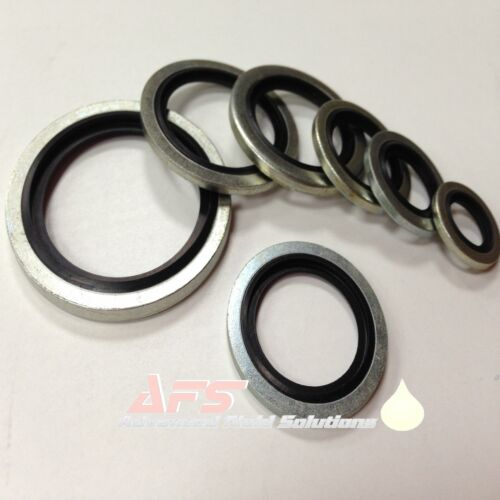 10 x M10 10mm METRIC Bonded Dowty Seal Self Centering Hydraulic Oil Seal Washer