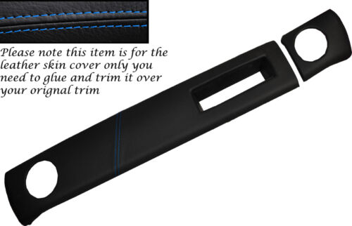 BLUE STITCHING TWO PIECE DASH KIT LEATHER SKIN COVERS FITS FORD ESCORT MK2