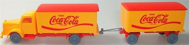Coca Cola Mercedes 5000 Hängerzug orange rouge IMU H0 1:87 #59# å