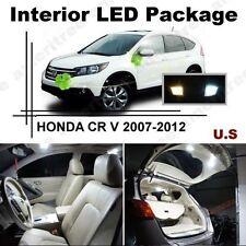 White LED Lights Interior Package Kit for Honda CRV 2007-12 ( 8 Pcs )