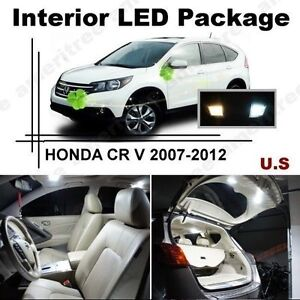 White LED interior lights package kit for 2007-12 Acura RDX 8pcs 5050 series SMD