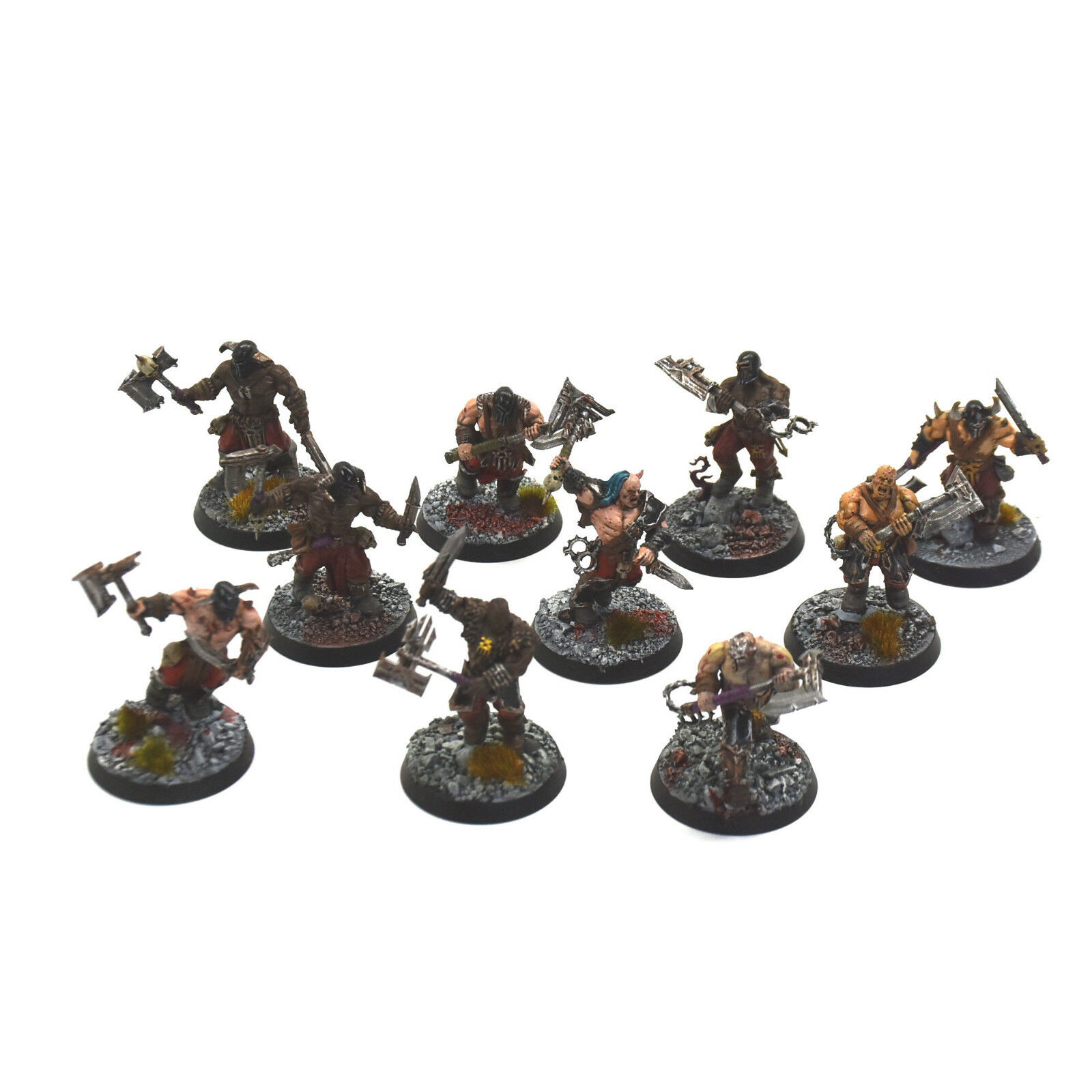 BLADES OF KHORNE 10 Bloodreavers  3 WELL PAINTED bloodbound  sigmar Chaos