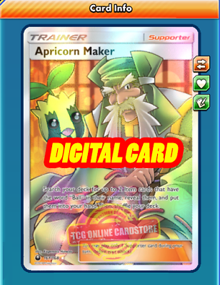 FA Bonnie DIGITAL ptcgo in Game Card Full Art for Pokemon TCG Online