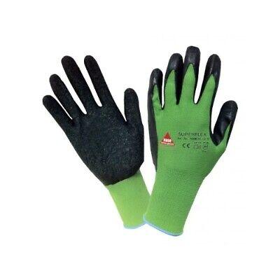 10 Paar Hase Montagehandschuh Superflex Green 2-1-3-1 Latexbeschichtet Gr. 10 Gesundheit FöRdern Und Krankheiten Heilen