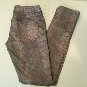 c6fa417c0f2e INC Denim Women's Snake Print Jeans Size 2 Skinny Leg Regular Fit   eBay