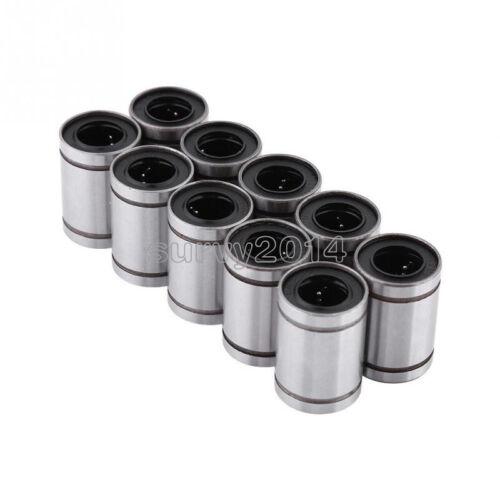 10PCS NEW LM8UU 0.8cm 8mm Linear Motion Ball Bearing Bushing Bush Top Quality