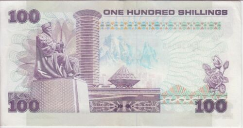 EF+ KENYA BANKNOTE P23f  100 SHILLINGS  1988