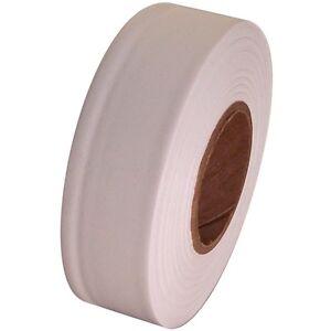 DéVoué White Flagging Marking Tape 1 3/16 Inch X 300 Ft Non-adhesive Doux Et AntidéRapant
