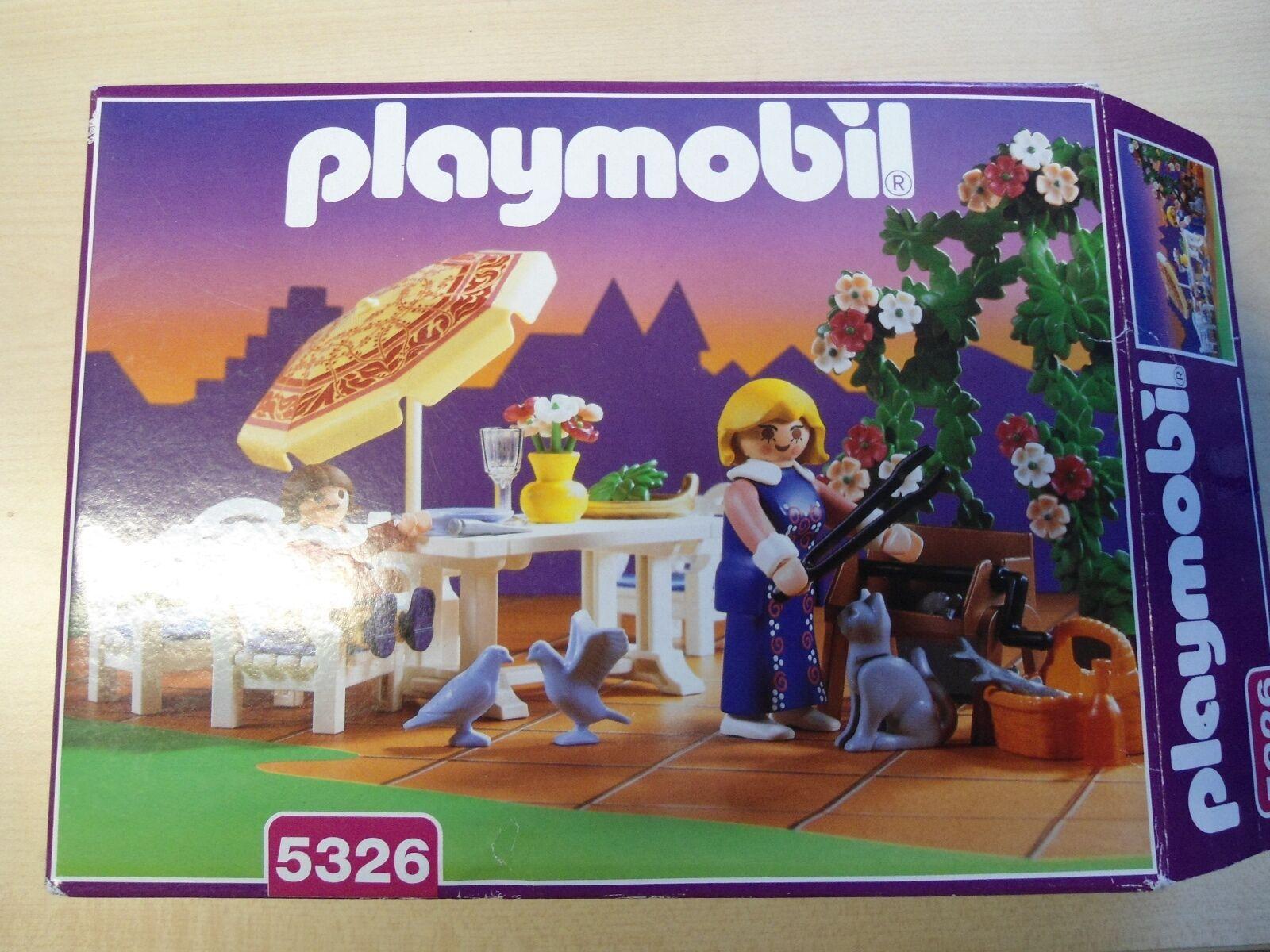 Playmobil Rosa Serie Set 5326  Gartenset mit Grill    gebraucht selten  | Großer Verkauf