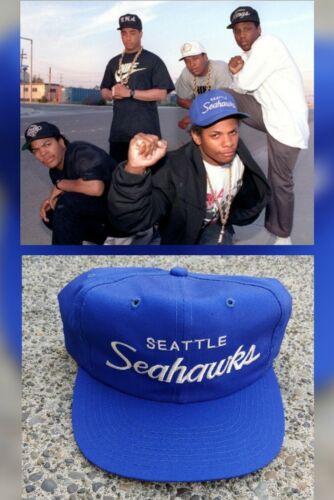Vtg 90s Seattle Seahawks Sports Specialties Script