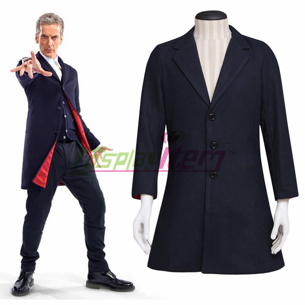 Doctor Dr. Who - 12th Dr. Navy Blue Cosplay Costume Coat Suit