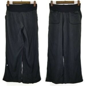 Lululemon-Athletica-Womens-Sz-6-High-Waist-Wide-Loose-Tencel-Stretch-Yoga-Pants