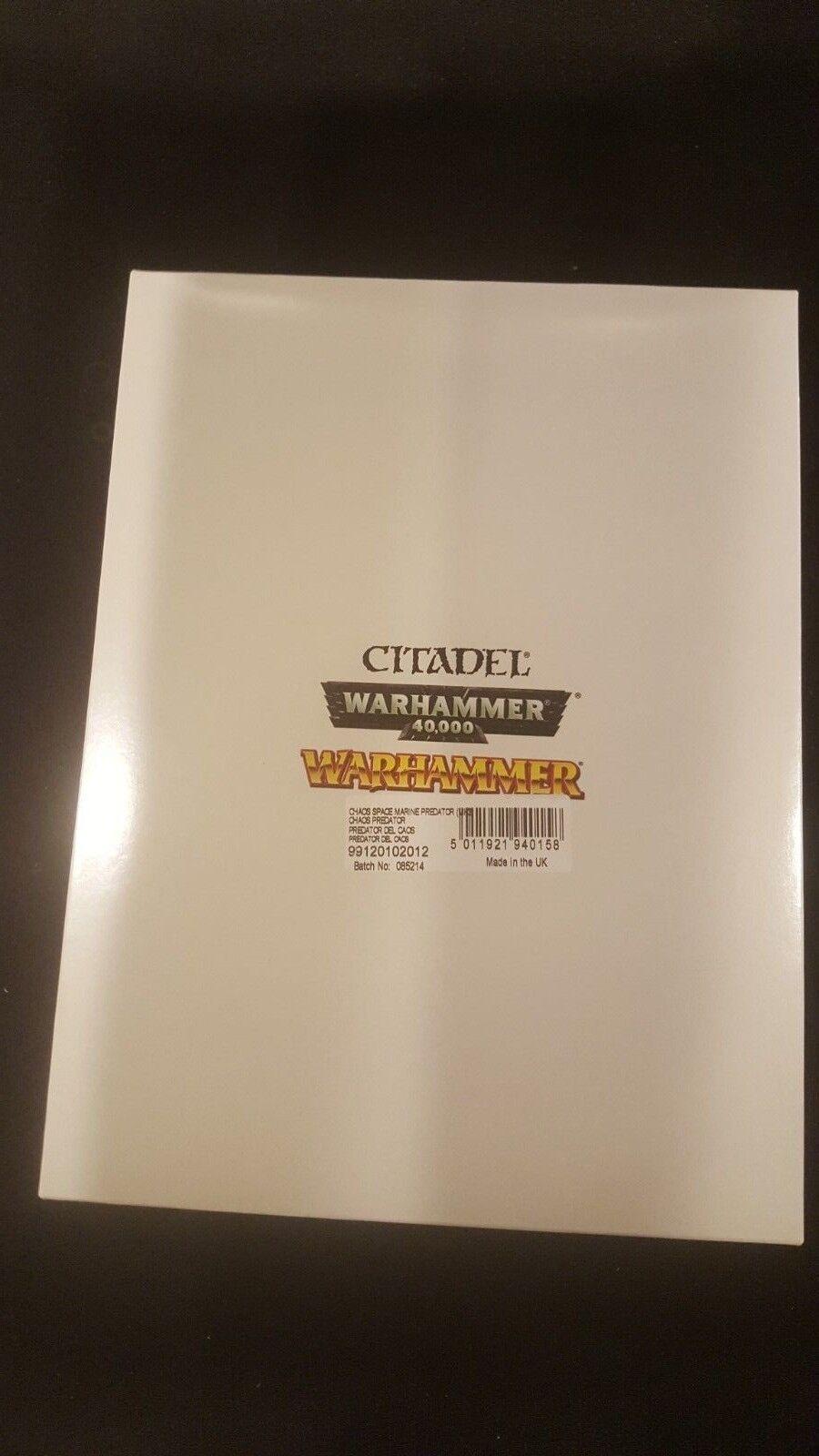 Warhammer 40,000 40,000 40,000  Chaos Predator GW Plastic NIB 2bf9d1