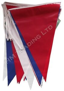 Red-Blue-White-10m-String-Bunting-20-Flag-Banner-Party-Sports-Event-All-Occasion