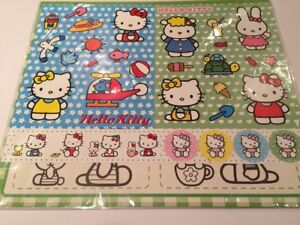 Hello-Kitty-Sanrio-Re-useable-stickers-sheet-beach-design-New-Authentic-B
