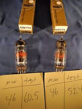 (2) Dumont 12BY7A DATE MATCHED NIB NOS Vacuum Tube (TESTED W/ TV-7D/U)