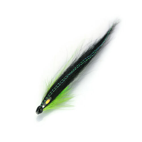 Posh Sunray Green Salmon Fly Sea Trout Flies Plastic Tubes 8-pack