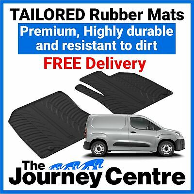 TAILORED RUBBER FLOOR MATS FRONT   2008-2018 FOR PEUGEOT BIPPER