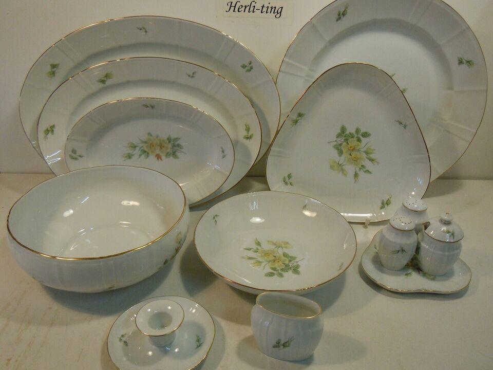 Porcelæn, Klitrose spisestel til pris pr del fra, B&G
