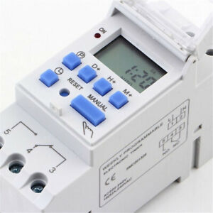 7-Day Digital LCD DIN Programmable Weekly Rail Timer 16A 220V Time Relay Switch