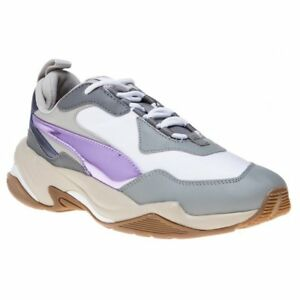 6a23c29a81dfe6 Image is loading New-WOMENS-PUMA-GRAY-NATURAL-THUNDER-LEATHER-Sneakers-