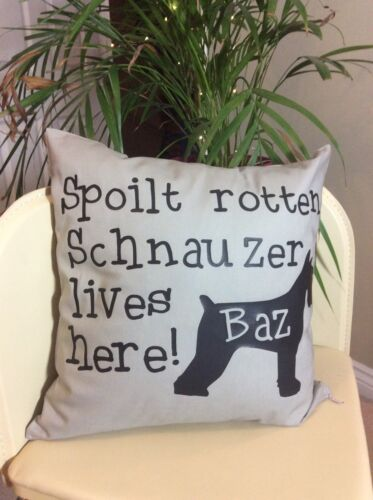 Miniature Schnauzer Lovable Dog Pet Pillow Funny Dog Quote Cushion Cover