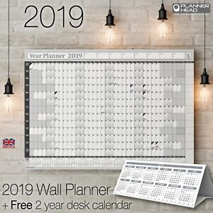 2019-Yearly-Planner-Annual-Wall-Chart-Year-Planner-amp-a-FREE-2-Year-Desk-Calendar