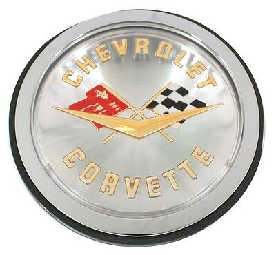1958-1960 Corvette Front or Rear Emblem Chrome Bezel Made in the USA