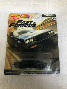 * 2020 Hot Wheels Fast Furious/'87 Buick Grand National  Motor City Muscle